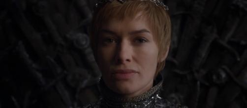 Cersei Lannister on the Iron Throne