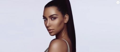 Kim Kardashian posted this photo on Instagram to announce her KKW beauty line - YouTube/E! News