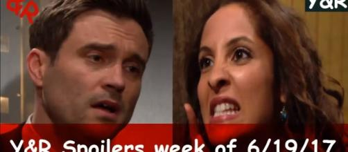Lily confront Cane in The Young and the Restless (Image via Nick Newman / YouTube)