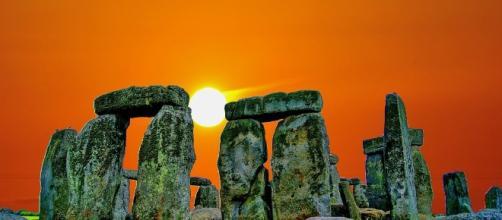 Stonehenge, Puesta Del Sol, Piedra