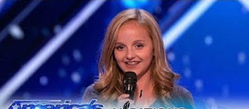 "Teen singer Evie Clair tops of ""America's Got Talent"" with a heartfelt tribute to her dad on a night top-heavy with talent-.Screencap AGT/YouTube"