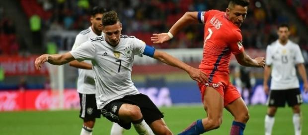 Alemania y Chile dieron un gran partido en el primer tiempo. El Bocón. com.