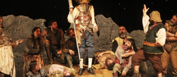 """""""El hombre de la Mancha"""", obra protagonizada por Benny Ibarra, Carlos Corona y Ana Brenda."""