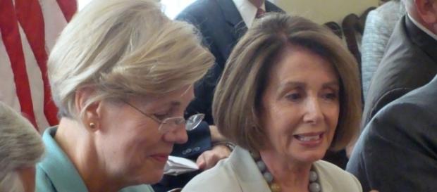 House Minority Leader Nancy Pelosi and Senator Elizabeth Warren. Photo from Nancy Pelosi via Flickr; available under Creative Commons License 2.0