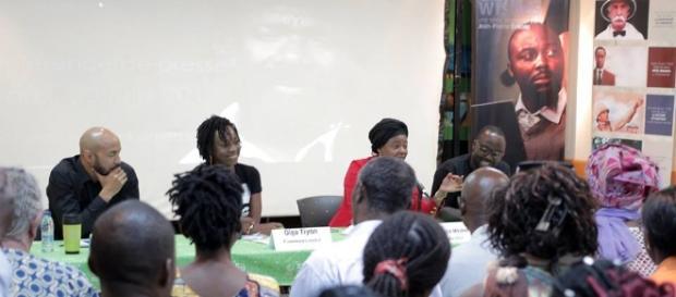 Le Panel de la conférence de presse à l'Institut Goethe de Yaoundé