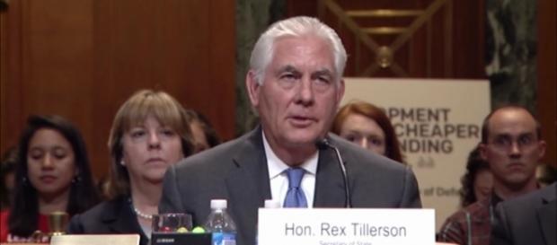 Secretary of State Rex Tillerson at budget hearing in June. / Image screenshot by SenatorDurbin via YouTube:https://youtu.be/JS3FnW0jHkQ