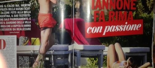 Andrea Iannone e Belen Rodriguez immortalati dal settimanale Chi