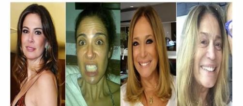 Aparência das famosas sem o uso de maquiagem