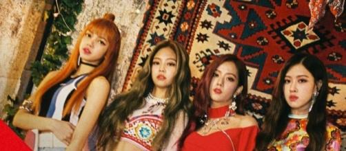 "Black Pink group photo for ""As If Its Your Last"" (via YG Entertainment promos for ""As If It's Your Last"")"