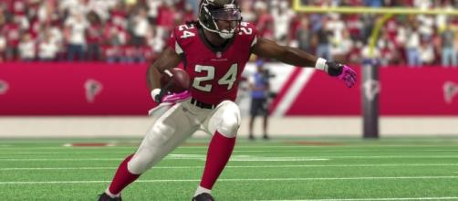 Devonta Freeman, Atlanta Falcons- youtube screen capture / Tino