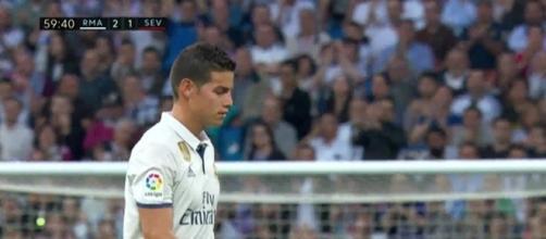 James Rodríguez del Real Madrid