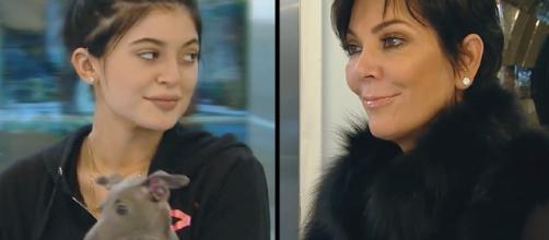Kylie Jenner with her mom from screenshot