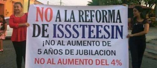 Maestros no están de acuerdo con la reforma al Isssteesin