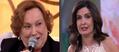 Nicette Bruno (à esquerda) entendeu o comentário da convidada como preconceituoso