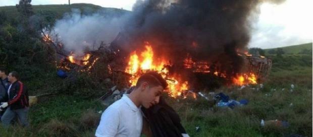 Imagem do local do acidente na BR-101