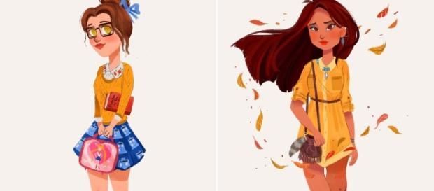 Princesas Disney retratadas na atualidade