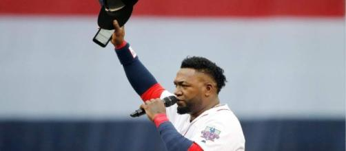First Baseman David Ortiz's Number 34 was retired on Friday. [Image via The Salt Lake Tribune/sltrib.com]