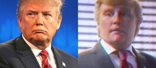 Donald Trump and his impersonation by Johnny Depp in Funny or Die
