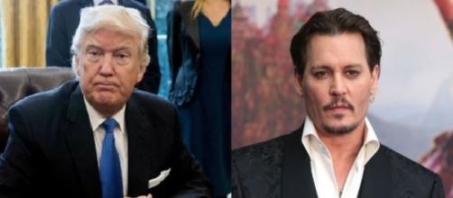Donald Trump, Johnny Depp, via Twitter