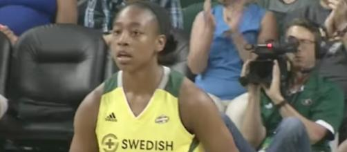 Jewell Loyd will try to lead the Seattle Storm to a second-straight victory on Friday night against Phoenix. [Image via WNBA/YouTube]