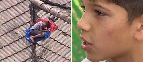 Missing 11-year-old boy found sleeping on roof [Image: Inside Edition/YouTube screenshot]