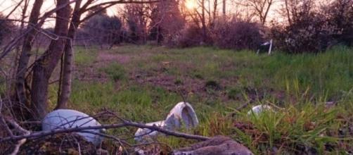 Triste tramonto nella periferia romana.