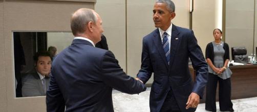 Vladimir Putin and Barack Obama via Wikimedia Commons