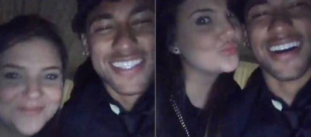 Neymar e sua suposta amiga em um vídeo postado pelo craque