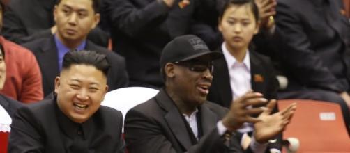 Dennis Rodman and Kim Jong Un watch a basketball game in Pyongyang in 2013 ... - reddit.com