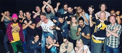 "Jared Leto took his entire Thirty Seconds to Mars squad to see ""Wonder Woman."" (Jared Leto/Instagram)"