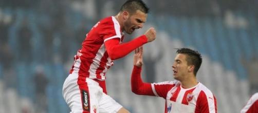 Marko Petković difensore della Stella Rossa.