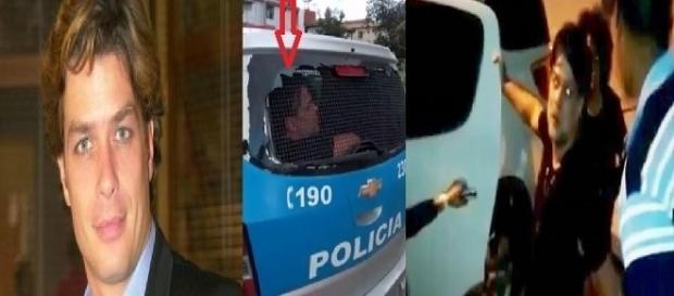 Fábio Assunção foi levado pela polícia à delegacia