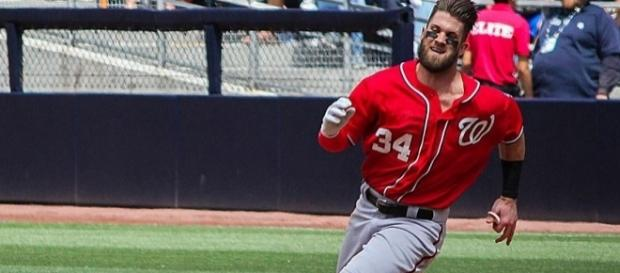 Harper in action, Wikimedia Commons https://commons.wikimedia.org/wiki/File:BryceHarper2015SD001.jpg