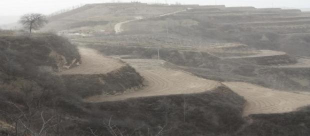 Le 31 décembre 2010, la région montagneuse du Sichuan, en Chine, sous la pluie