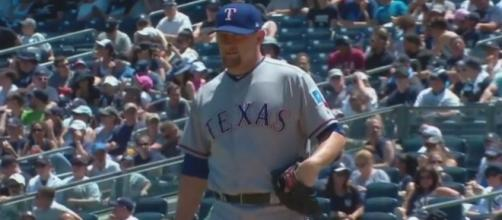 Bibens-Dirkx tosses seven strong innings. [Image viaYoutube/MLB Channel]