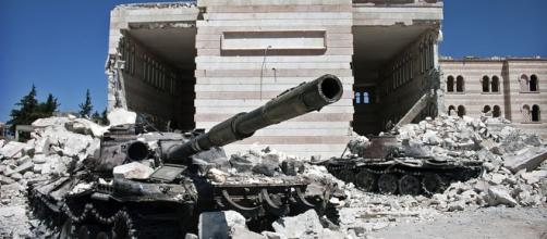 Destroyed tanks litter Syria as fight against ISIS intensifies - Wikimedia Commons - wikimedia.org