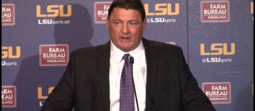 Ed Orgeron, LSU Tigers - youtube screen cap / LSU Tiger TV