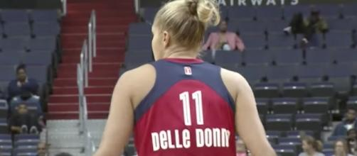 Elena Delle Donne of the Mystics returns to face her former team in Chicago on Sunday. [Image via WNBA/YouTube]