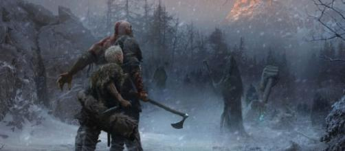 "Jose Peña's concept art ""became the beacon"" for ""God of War 4"" (via PlayStation Official Blog)"