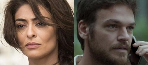 Juliana Paes e Emilio Dantas em 'A Força do Querer'