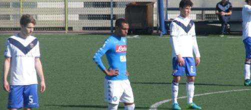 Leandrinho in campo con la maglia del Napoli Primavera -tuttonapoli.net