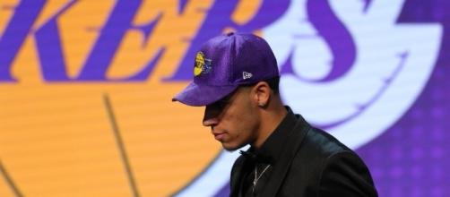 Lonzo Ball, the second overall pick of the 2017 NBA draft. [Image via Twitter/SpectrumSN]