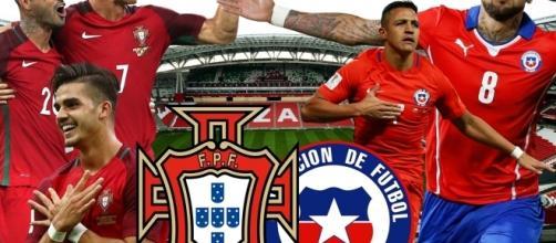 Portugal vs Chile nas meias-finais da Taça das Confederações 2017.