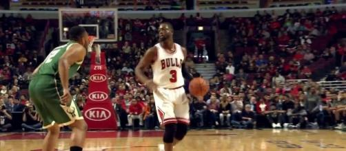 "The Bulls' front office believes that Dwyane Wade will handle the buyout rumors ""professionally"" (via YouTube/NBA)"