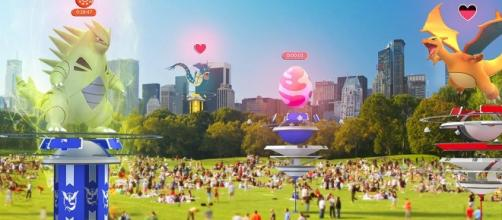 """The newest feature to arrive in """"Pokemon GO"""" is called Raid Battles (via Twitter/Pokemon GO)"""