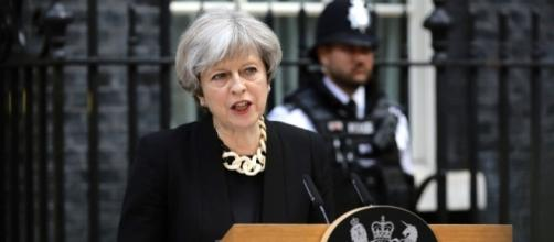 Theresa May hasn't had a lot to smile about in the last four weeks. (Source: Mirror.co.uk)
