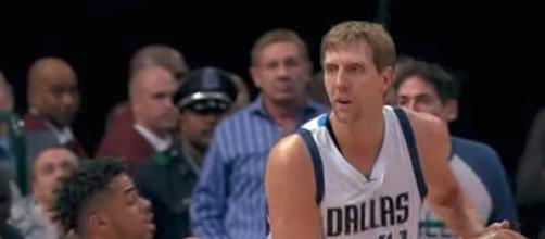 This past season, Dirk Nowitzki became the sixth player in NBA history to score 30,000 points in his career. [Image via NBA/YouTube]