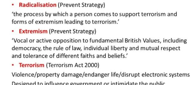 Extremism and Radicalisation 'PREVENT' Information for School ... - slideplayer.com