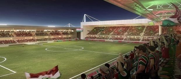 """Imagem do estádio projetado para ser a nova """"casa"""" do Fluminense (Foto: Reprodução/Instagram)"""