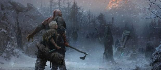 "Jose Peña's concept art ""became the beacon"" for ""God of War 4"" (via PlayStation Official Blog)"